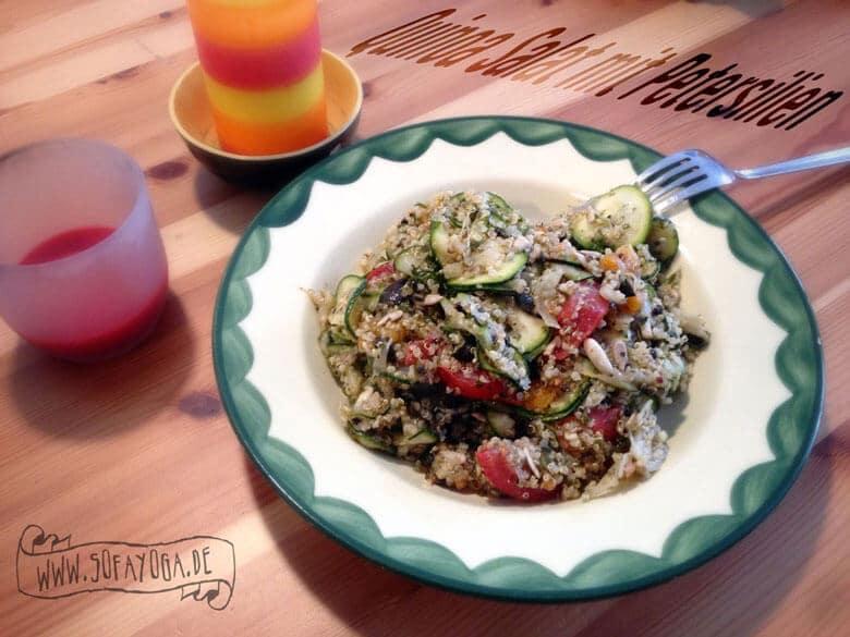 Quinoa-Salat mit Petersilien