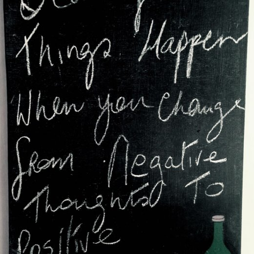 beautiful things happen when you change from negative thoughts to positive thoughts