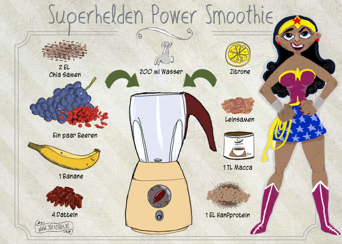 Superhelden Power Smoothie
