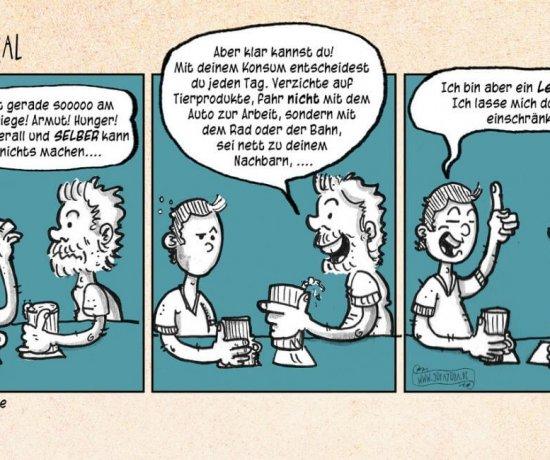 Doppelmoral - ein Sofayoga Comic